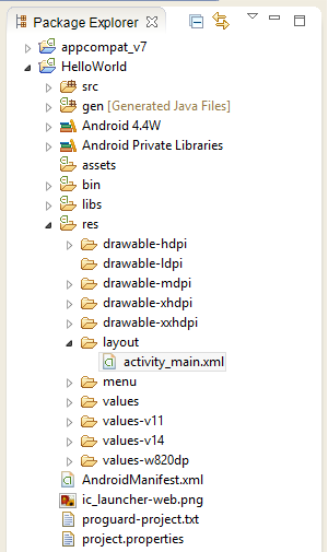create-android-project-8-package-explorer