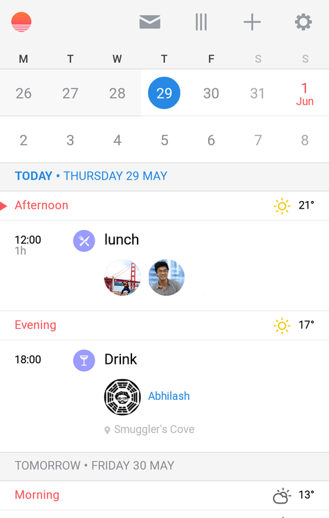 beautiful-android-apps-Sunrise-Calendar-5