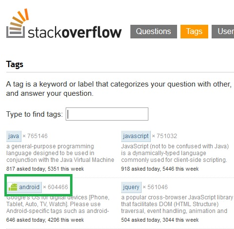 stackoverflow-tag-android