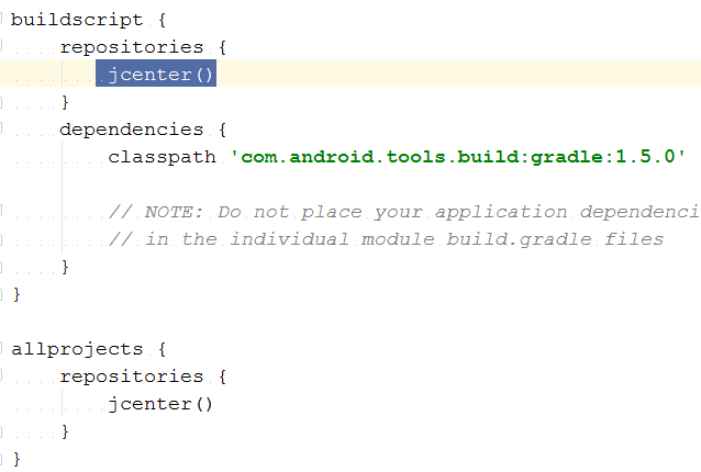 build-gradle-content-selection-jcenter-error-iran